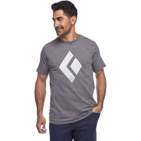 Black Diamond Chalked Up T-shirt Heren, charcoal heather